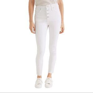 NWT Madewell 10-Inch High Waist Crop Skinny Jeans